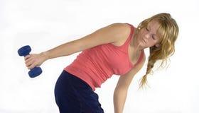 Khollie, das mit Gewichten A10 ausarbeitet Stockfoto