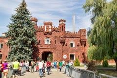 Kholm-Tor durchlöcherte mit Kugeln in der Brest-Festung belarus Lizenzfreie Stockfotos