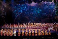 Khon表现, Prommas情节2015年 免版税库存照片