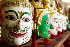 Khon,在当地泰国样式的天使面具 免版税库存图片