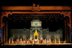 Khon,泰国的舞蹈表现 免版税库存照片