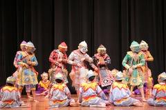 Khon,从泰国的舞蹈戏曲 免版税库存照片