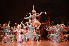 Khon,从泰国的舞蹈戏曲 免版税图库摄影
