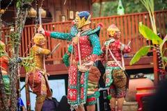 Khon är den traditionella dansen av thai maskerat klassiskt konstkultur Royaltyfri Fotografi