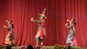 Khon, η υψηλή τέχνη Ταϊλανδού με την κομψότητα απόθεμα βίντεο