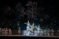 Khon, представления танца Таиланда Стоковая Фотография