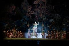 Khon, представления танца Таиланда Стоковые Фото
