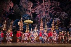 Khon, представления танца Таиланда Стоковые Фотографии RF