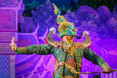 Khon - тайский традиционный танец маски Стоковое Изображение