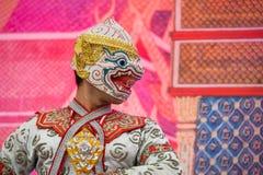 Khon - тайский традиционный танец маски Стоковые Изображения