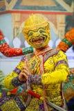 Khon - тайский традиционный танец маски Стоковое Фото