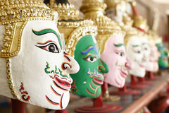 Khon, Angel mask in native Thai style Stock Photography