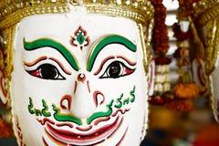 Khon, Angel mask in native Thai style Stock Photo