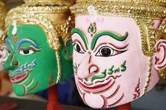 Khon, Angel mask in native Thai style Stock Photos