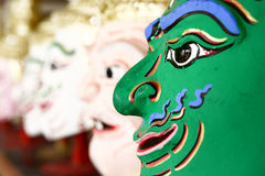 Khon, Angel mask in native Thai style Stock Images
