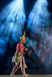 Khon is dance drama of Thai classical masked, this performance i Royalty Free Stock Photo