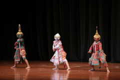 Khon, Dance drama from Thailand. Stock Photo