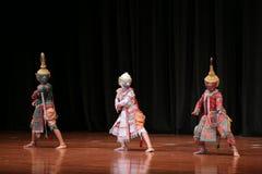 Khon dansdrama från Thailand Arkivfoto