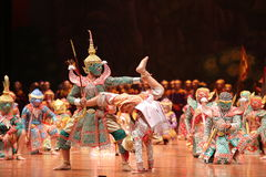 Khon dansdrama från Thailand Arkivfoton