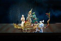 Khon, Dansprestaties van Thailand Royalty-vrije Stock Afbeelding