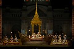 Khon, desempenhos da dança de Tailândia Fotografia de Stock Royalty Free
