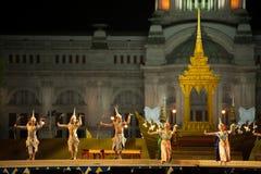 Khon, desempenhos da dança de Tailândia Imagem de Stock