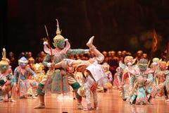 Khon, drame de danse de Thaïlande photos stock