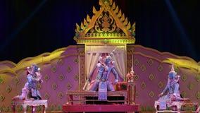 Khon, el alto arte del tailand?s con elegancia almacen de metraje de vídeo
