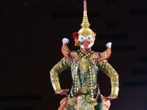 Khon em Tailândia imagem de stock