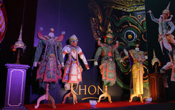 Khon Exhibition in Travel Thailand Event Royalty Free Stock Photography