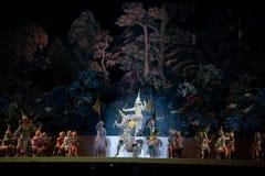 Khon, funcionamientos de la danza de Tailandia Foto de archivo libre de regalías
