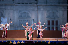Khon, funcionamientos de la danza de Tailandia Fotografía de archivo libre de regalías