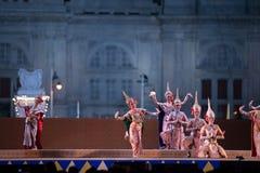 Khon, funcionamientos de la danza de Tailandia Fotos de archivo
