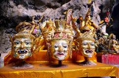 Khon gehen Einsiedler voran, oder Schauspieler ist Maske der Art des thailändischen Dramas Lizenzfreie Stockbilder