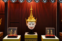 Khon Head or Actor is mask of kind of Thai drama for show travel Stock Image