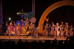 Khon jest tradycyjnego tana dramata sztuką Tajlandzki klasyczny zamaskowany w Tajlandia Obrazy Royalty Free