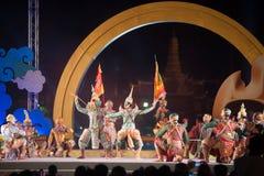 Khon jest tradycyjnego tana dramata sztuką Tajlandzki klasyczny zamaskowany w Tajlandia Obraz Stock