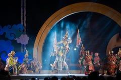 Khon jest tradycyjnego tana dramata sztuką Tajlandzki klasyczny zamaskowany w Tajlandia Obraz Royalty Free