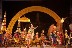Khon jest tradycyjnego tana dramata sztuką Tajlandzki klasyczny zamaskowany w Tajlandia Fotografia Stock