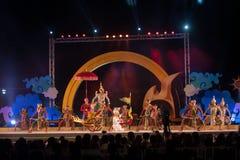 Khon jest tradycyjnego tana dramata sztuką Tajlandzki klasyczny zamaskowany w Tajlandia Fotografia Royalty Free
