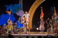 Khon jest tradycyjnego tana dramata sztuką Tajlandzki klasyczny zamaskowany w Tajlandia Zdjęcie Royalty Free