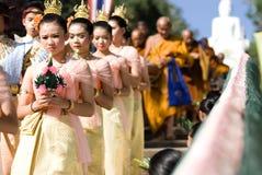 Khon Kaen, Tailandia - 28 ottobre: Tak Bat Devo Rohana è il Festiv Immagini Stock Libere da Diritti
