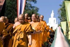 Khon Kaen, Tailandia - 28 ottobre: Tak Bat Devo Rohana è il Festiv Immagine Stock Libera da Diritti