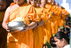Khon Kaen, Tailandia - 28 ottobre: Tak Bat Devo Rohana è il Festiv Fotografie Stock