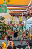 Khon kapacitet i Ramayana epos royaltyfri foto