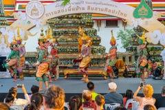 Khon kapacitet i Ramayana epos royaltyfri fotografi