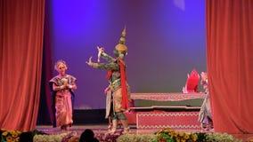 Khon, l'art élevé du thailandais avec l'élégance banque de vidéos