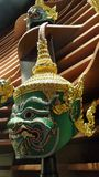 Tossakan the Giant Khon mask from the Ramayana,  for Thai classical mask dance Stock Photography