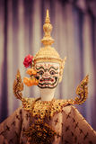 Khon masks. Close up of Thailand Ramakien mask royalty free stock photos