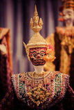 Khon masks. Close up of Thailand Ramakien mask stock image